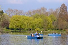Regent`s park -boating lake, London, England royalty free stock images