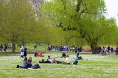 Regent`s park in spring, London, England stock images
