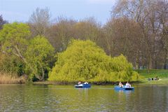 Regent`s park in spring, London, England royalty free stock photos