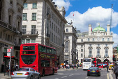 Regent's street  It was named after Prince Regent, completed in 1825. London Royalty Free Stock Photo