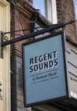 Regent Sounds of Denmark Street in London Royalty Free Stock Photos