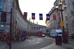 Regent St in Piccadilly Circus Stock Photography