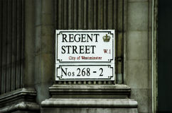 Regent street Royalty Free Stock Photo