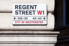 Regent Street. In central London Royalty Free Stock Photography
