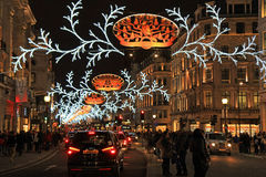 Regent street at Christmas, London. Christmas light in Regent street, London, UK Royalty Free Stock Image