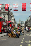 Regent Street closed to traffic, London Stock Images