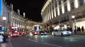 Regent Street in the dark Stock Photos