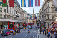 Regent Street London Arkivfoto