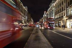 Regent Street na noite foto de stock