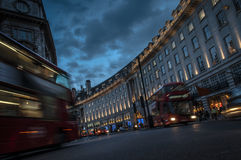 Regent Street at night Stock Image
