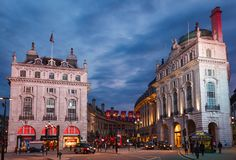 Regent Street and Piccadilly Circus junction West End W1 London Stock Image