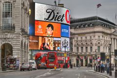 Regent Street Piccadilly Circus London Fotografia Stock