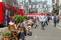 Regent Street senza traffico, Londra Fotografie Stock Libere da Diritti
