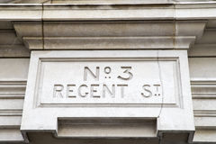 Regent Street Sign in London Royalty Free Stock Photography