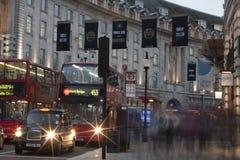 Regent ulica w wieczór Zdjęcia Stock