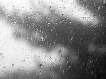 Regentropfen auf dem Fenster Stockbilder