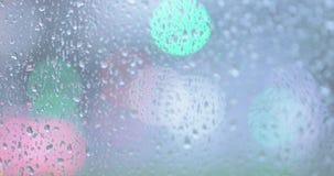 Regentropfen auf dem Glas stock video footage