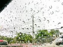 Regentropfen auf dem Glas Lizenzfreie Stockfotos