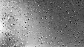 Regentropfen auf einem Fenster Stockfotografie