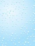 Regentropfen auf einer Fensterscheibe stock abbildung
