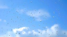 Regentropfen auf Glas Lizenzfreie Stockfotografie