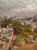 Regentropfen jewels mein Fenster stockfoto