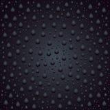 Regentropfenart Blase auf Glashintergrundschablone Stockfoto