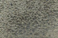 Regentropfenspur auf dem Sand Stockbild