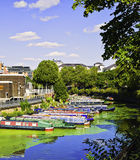 Regents Canal, Barges, London, England Stock Photography