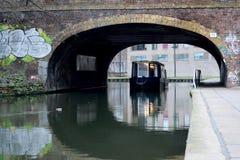 Regents kanal i Camden Town, London royaltyfri foto