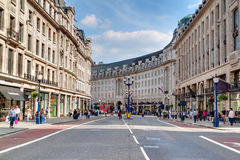RegentStreet em Londres Foto de Stock