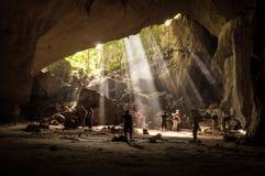 Regenwaldhöhle in Taman Negara, Malaysia stockfoto