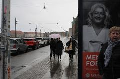 REGENweer IN KOPENHAGEN DENEMARKEN royalty-vrije stock foto's