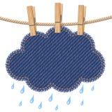 Regenwolke auf einer Wäscheleine Stockfotos