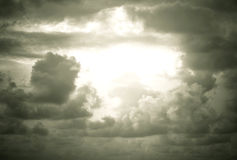 Regenwolken stockfotos
