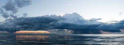 RegenwolkenPanorama Stock Photo