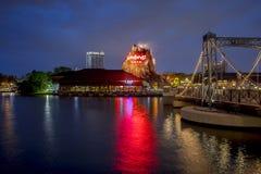 Regenwoudkoffie bij Nacht, Disney-de Lentes wordt verlicht die stock afbeelding