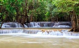 Regenwoudwaterval in Thailand Stock Afbeelding