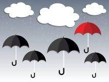 Regenzeit und Regenschirm Lizenzfreie Stockbilder