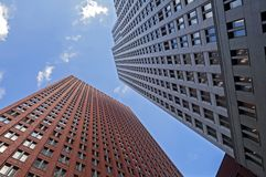 Regerings- byggnader för höghus i Haag Arkivbilder