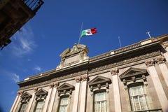 regerings- guanajuato mexico för byggnadsflagga Royaltyfri Fotografi