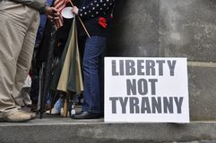 regerings- protestera Arkivfoto