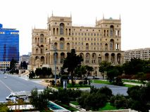 Regerings- slott Baku Azerbaijan arkivbild