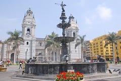 Regerings- slott på Plaza de Armas Arkivbilder