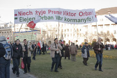 regerings- sympati för ungrarepolermedelslag Arkivfoton