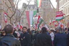 regerings- ungersk slagsympati arkivbild