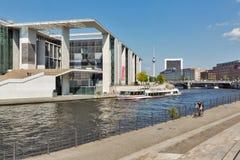 Regeringsgebouwen in Berlijn de stad in, Duitsland stock foto