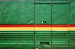 Reggae. Wall of a transporter in reggae colors Royalty Free Stock Photos