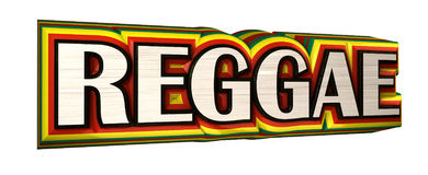 Reggae. 3D text in rasta colors Stock Photo