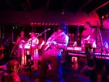 Reggae band Guidance Band jams at the Anna O'Briens Royalty Free Stock Images